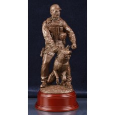 Police Dog Team - Bronze Statue